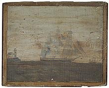 OUTSTANDING PAIR OF OVER-THE-MANTLE NAUTICAL PAINTINGS