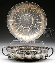 TWO CENTRAL/SOUTH AMERICAN SILVER BOWLS.
