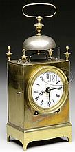 BRASS CAPUCINE TRAVEL CLOCK.