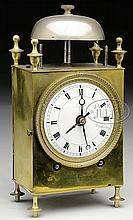 FRENCH EARLY 19TH CENTURY CAPUCINE TRAVEL CLOCK.