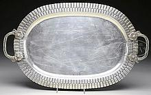 TWO HANDLED STERLING SILVER TRAY BY SANBORNS OF MEXICO.