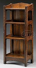L & JG STICKLEY V-BACK BOOKSTAND.