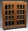 L & JG STICKLEY DOUBLE DOOR BOOKCASE.