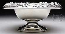 KIRK STERLING SILVER REPOUSSE COMPOTE.