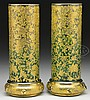 PAIR OF MOSER DECORATED VASES.