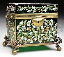 MOSER DECORATED DRESSER BOX.