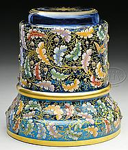 MOSER DECORATED PEDESTAL.