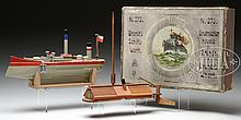 LOT OF 2 BOXED GERMAN SHIPBUILDING TOYS.