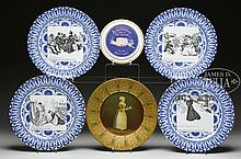 LOT OF 6 MISCELLANEOUS PLATES.