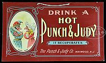PUNCH & JUDY COCKTAIL CELLULOID SIGN.
