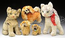 GROUP OF 5 STEIFF ANIMALS.