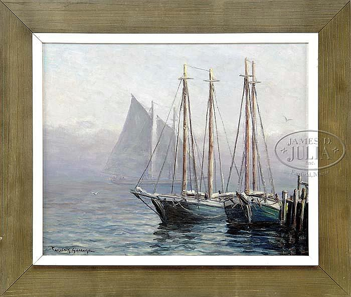 PARKER GAMAGE (American, 1882-1960) MISTY SAIL.