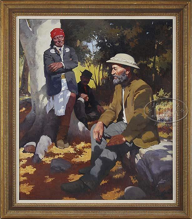 FRANCIS HENRY BEAUGUREAU (American, 1920-1991) THE MEETING OF CROOK AND GERONIMO.
