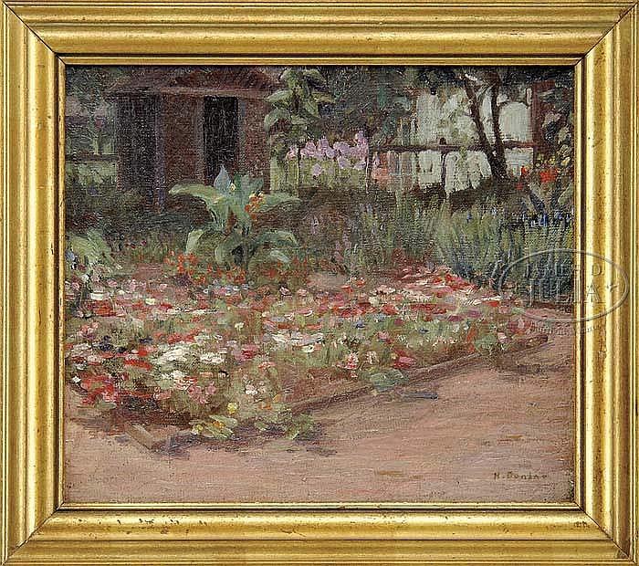 HELENA ADELE M. DUNLAP (American, 1876 - 1955) FLOWER GARDEN.