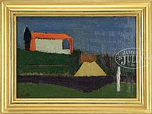 SCHOOL OF MILTON AVERY (American,1885-1965) RED BARN.