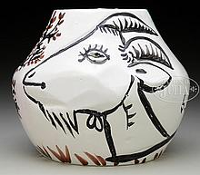 PABLO PICASSO (French, 1881-1973) VASE WITH GOATS.