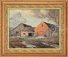 GEORGE BRUESTLE (American, 1871-1939) BARN, NEW HAVEN, CONNECTICUT.