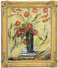 SUZANNE VALADON (French, 1865-1938) BOUQUET OF RED POPPIES.