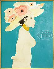 BEN JOHNSON (American, 20th Century) THE FLOWER HAT.