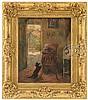 FRANS CHARLET (Belgian, 1862-1928) TEASING THE CAT., Frantz Charlet, $1,500