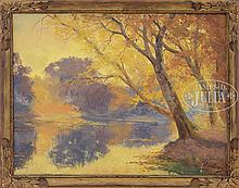 WILLEM DELSAUX (Belgian, 1862-1945) AUTUMN LANDSCAPE.