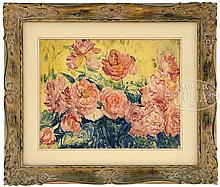 SIR JACOB EPSTEIN (American/English, 1880-1959) ROSES IN BLOOM.