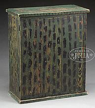 RARE PAINT DECORATED TABLE CUPBOARD.