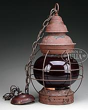 RARE SHIP'S ONION LAMP BY ELISHA WEBB & CO.