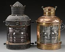 TWO SHIP'S MASTHEAD LANTERNS.