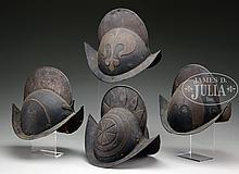WONDERFUL COLLECTION OF CIRCA 1620 MUNICH TOWN GUARD MORION HELMETS.