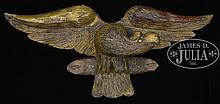 SMALL CARVED EAGLE PLAQUE.