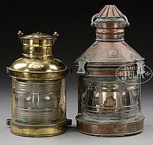 TWO SHIP'S LANTERNS.
