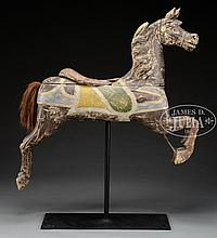 CARVED CAROUSEL HORSE BY CHARLES DARE.
