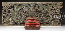 LOT OF TWO WOOD CARVED ELEMENTS.