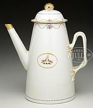 CHINESE EXPORT LIGHTHOUSE FORM COFFEE POT.