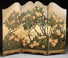 THREE PANEL DRESSING SCREEN BY GEORGE PARKER.