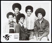 JACKSON 5 SIGNED PROMOTIONAL PHOTOGRAPH