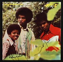 JACKSON FIVE SIGNED MAYBE TOMORROW ALBUM SLEEVE