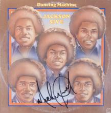 MICHAEL JACKSON SIGNED DANCING MACHINE ALBUM