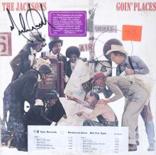 MICHAEL JACKSON SIGNED GOIN' PLACES ALBUM