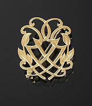 GRETA GARBO 18K GOLD BROOCH