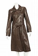 GRETA GARBO BROWN LEATHER JACKET