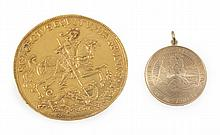 GRETA GARBO GOLD ST. CHRISTOPHER MEDALS
