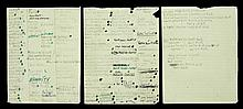 GRETA GARBO HANDWRITTEN NOTES