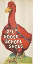 EARLY 20TH CENTURY POSTER FOR RED GOOSE SCHOOL SHOES