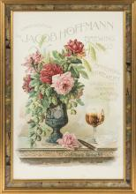 LATE 19TH CENTURY POSTER FOR JACOB HOFFMANN BREWING CO.