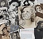 GRETA GARBO PHOTOGRAPHS AND CLIPPINGS FROM HER DESK