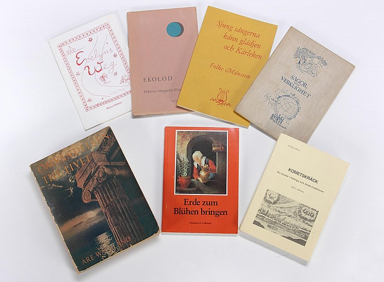 GRETA GARBO SEVEN SWEDISH BOOKS
