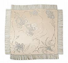 TRAVIS BANTON EMBELLISHED SILK SHAWL