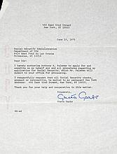 GRETA GARBO SIGNED DOCUMENT